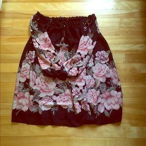 Lulu's Off-The-Shoulder Floral Dress